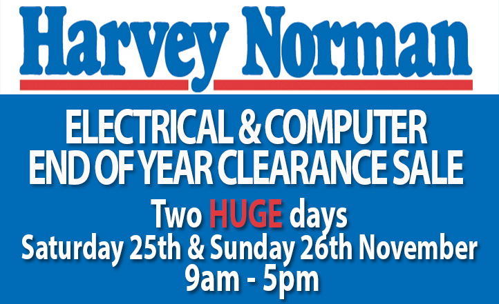 Harvey Norman Electrical & Computers End of Year Clearance Sale